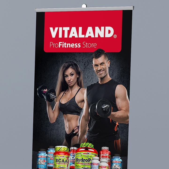 Plakát a roll-up Vitaland