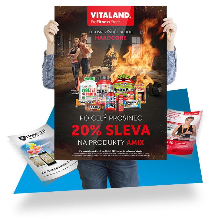 Reklamní letáky, plakáty a tištěná inzerce
